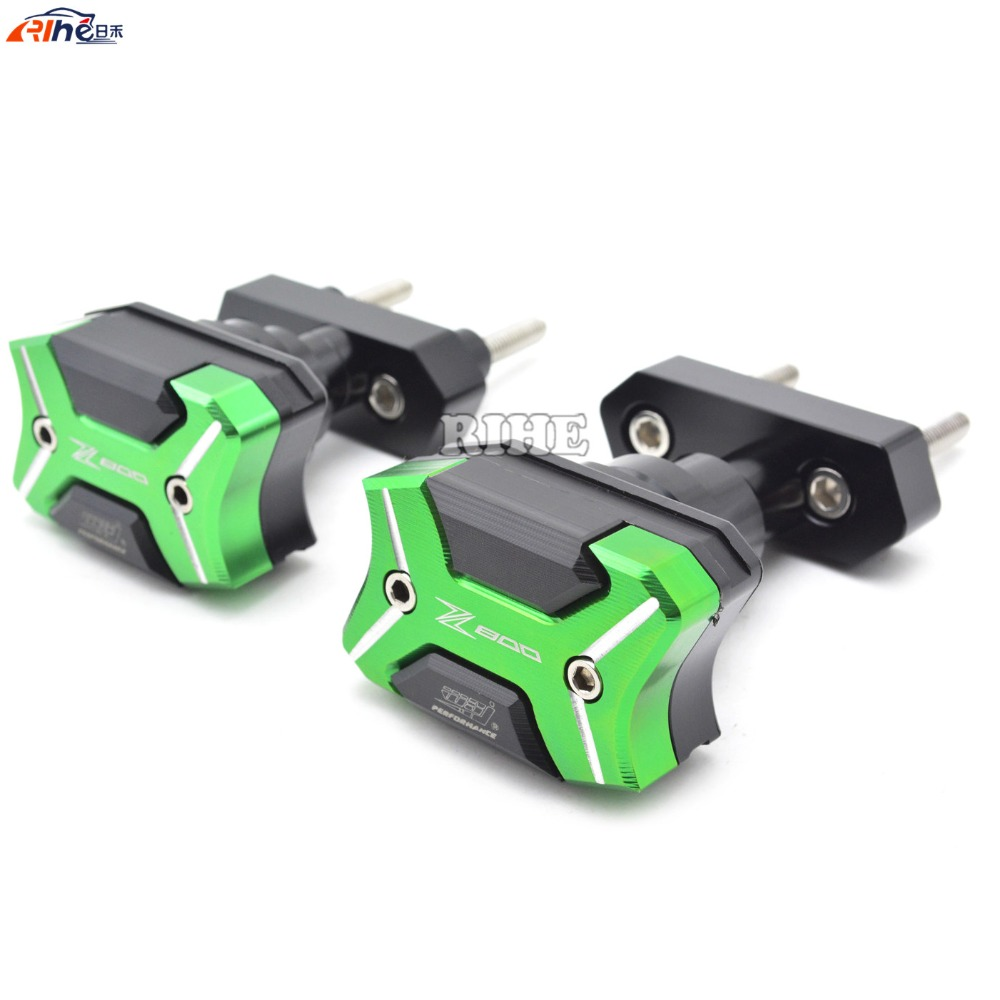 Motorcycle cnc Aluminum Frame Crash Pads Engine Case Sliders Protector For Kawasaki Z800 ZR800 motorcycle cnc aluminum frame sliders crash pads protector suitable for kawasaki z800 2012 2013 2014 2015 2016 green