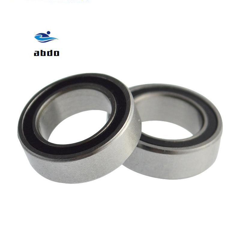 4PCS High quality ABEC-5 6702 2RS <font><b>6702RS</b></font> 6702-2RS 6702 RS 15x21x4 mm Miniature double Rubber seal Deep Groove Ball Bearing image