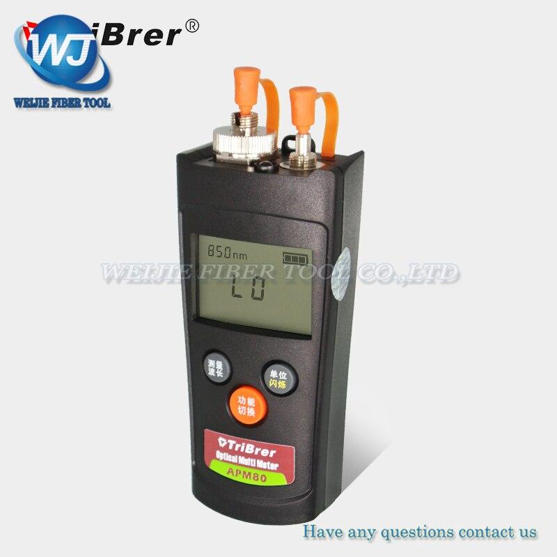 Tribrer APM 80T V1 OPM Mini handheld type Optical Power Meter & Visual Fault Locator Fiber Optic Tool 70~+6dBm 1 mW VFL