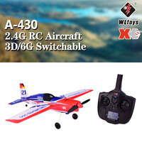 Original Wltoys XK A430 X4 Transmitter 2.4G 5CH Brushless 3D6G System Airplane Compatible With FUTABA S FHSS Aircraft RC Glider