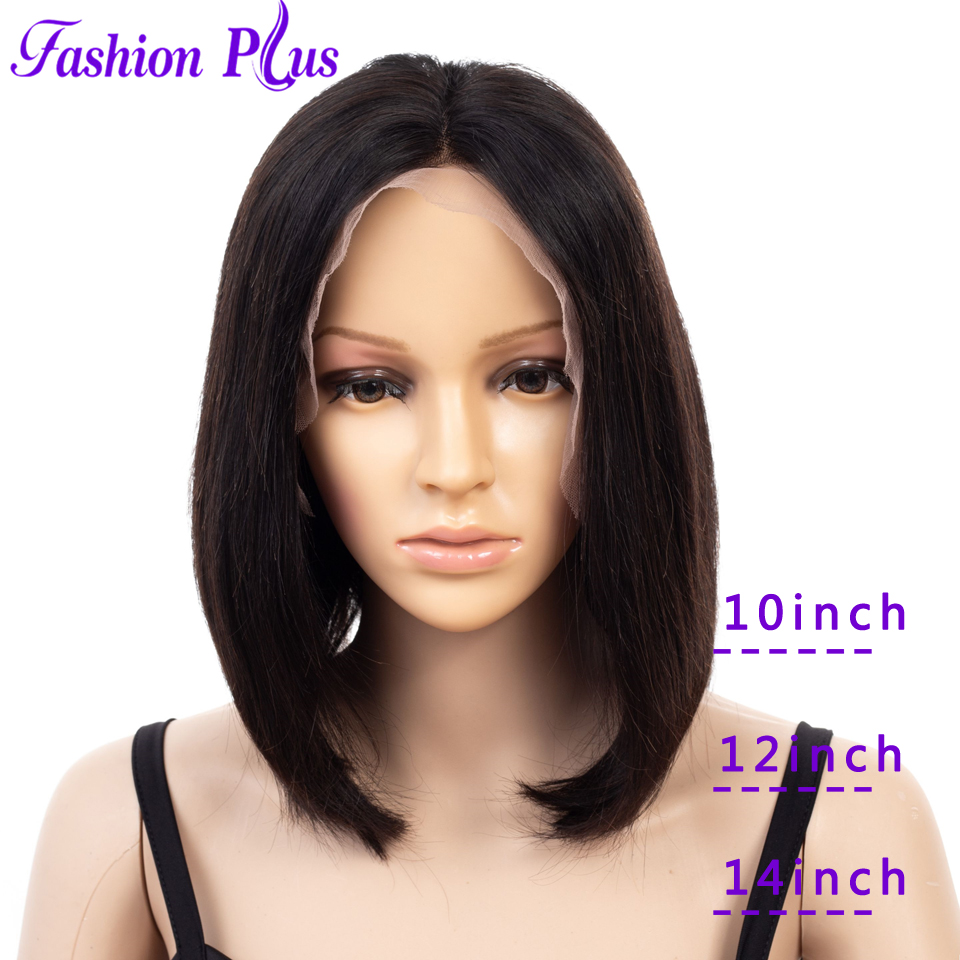 Short Lace Front Human Hair Wigs For Black Women Brazilian Wig T Lace 11x5 Bob Lace Front Wig With Pre Plucked Baby Hair Remy