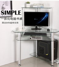 Computer desk. Desktop household. Desk.. Double-layer multifunctional