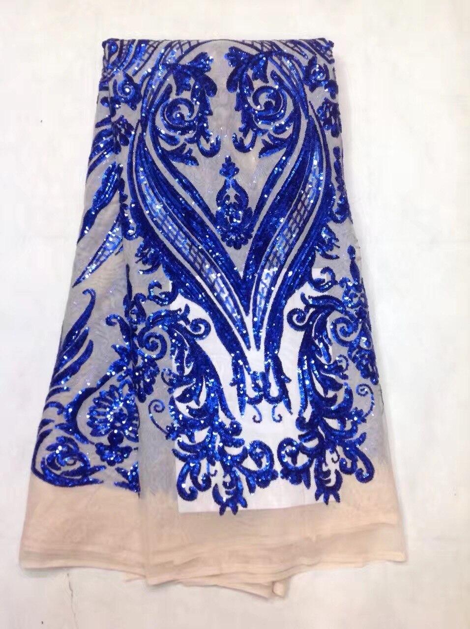 HOT francia nigériai flitteres hálós csipke, afrikai tüll hálós csipke szövet kiváló minőségű party esküvői ruha 5yards / lot JL122604