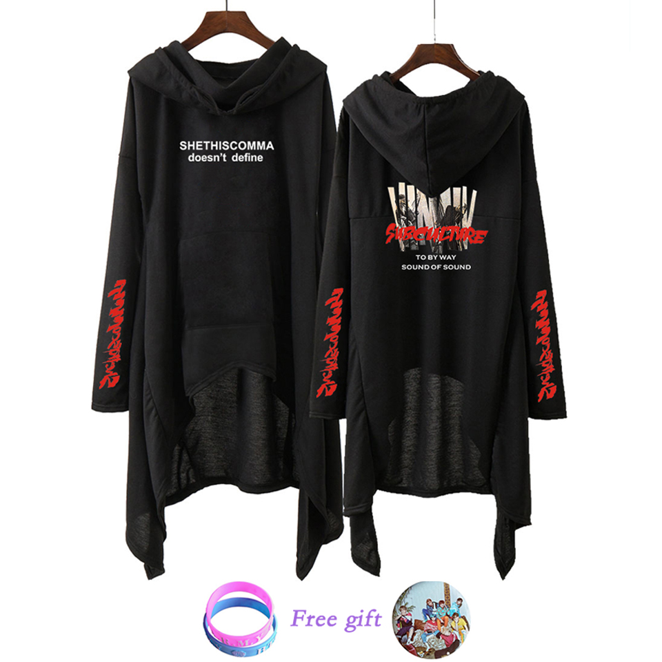 BF Drop Shopping  Dress Fashion 2019 Women Hooded Sweatshirt  SUGA JIN JHOPE JIMIN Love Yourself Kpop Clothes Pullover