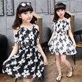 Big Girl Dresses Summer 2016 New Children's Clothing Kids Flower Dress Chiffon Princess Costume Girls Kids 7 8 9 10 11 12 Years