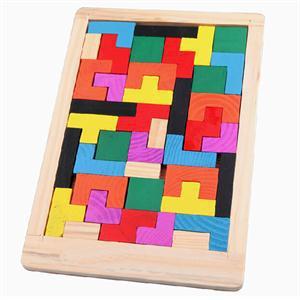 2014 New BA Portable Clever Puzzle Kawaii Children Toys Precious Wooden  Tangram Brain Teaser Jigsaw Board
