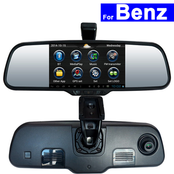 Android Car Rear View Mirror DVR GPS Bluetooth WIFI for Mercedes-Benz Smart B200 A160 C E GLK Series Touch Screen Auto Monitor image