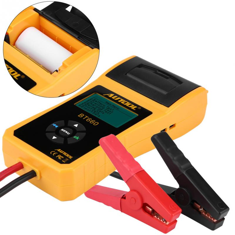 12V Digital Automotive Car Battery Load Tester Analyzer Test with Printer Multi-language Analyzer Voltage New Car Battery Tester hot sale digital car battery tester diagnostic tools micro 100 12v car capacity load tester analyzing