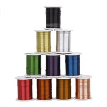 8 Pack 10 Rolls of Copper Wire Beading Thread Cord for DIY Jewellery Making Mixed Color—0.3mm