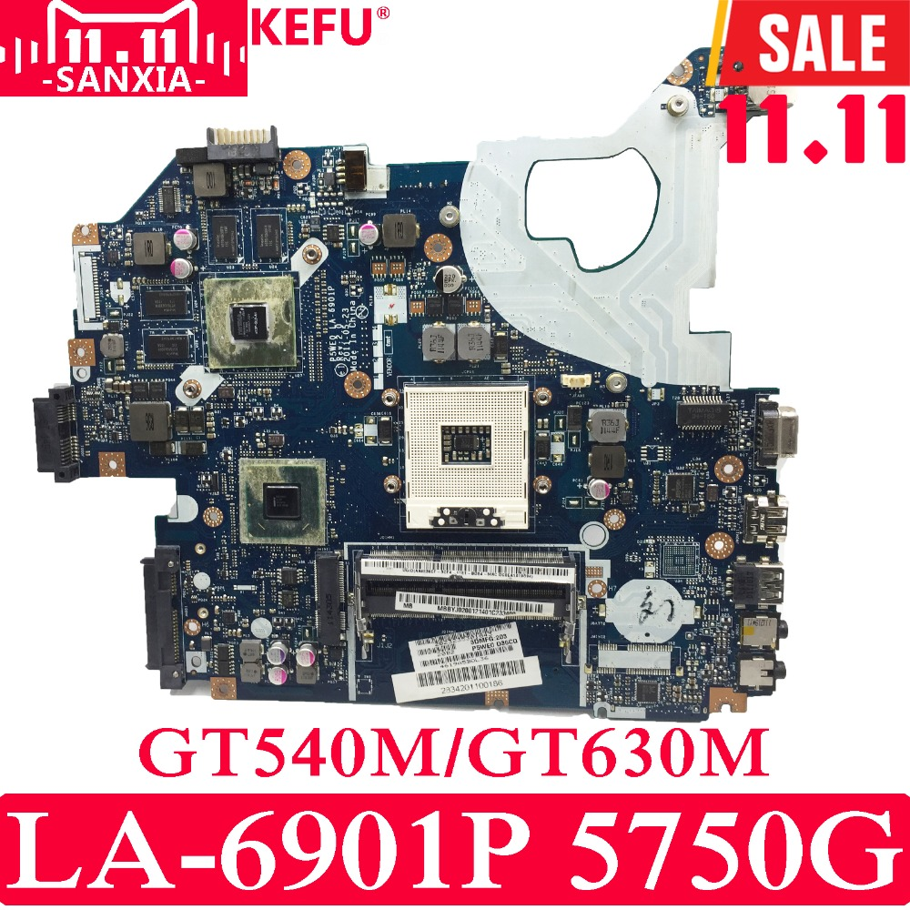 KEFU P5WE0 LA-6901P Laptop motherboard for Acer 5750 5750G 5755 5755G Test original mainboard HM65 GT540M/GT630M цена