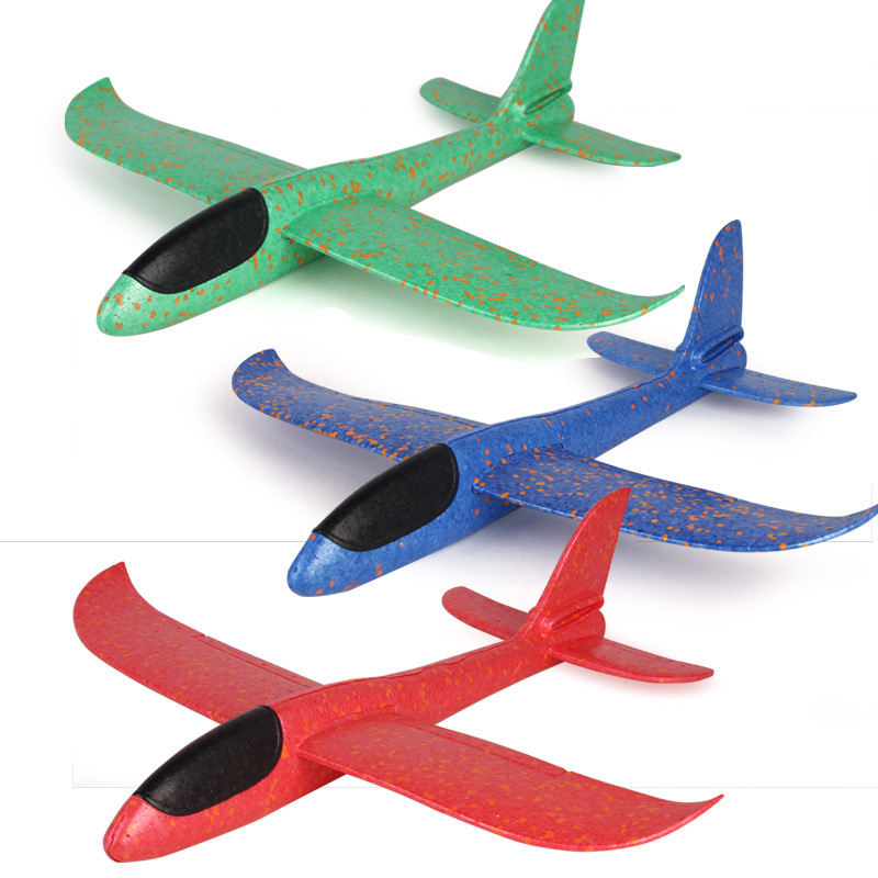 Foam Plane Toy Hand Throw Flying Glider Planes Toys Kids Big Foam Plane 48 CM/38CM Hand Throw Airplane Outdoor Toys for Children image