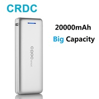 CRDC Slim Power Bank 20000mah Dual USB 18650 External Battery For iPhone X Xiaomi mi Portable Phone Charger Universal Poverbank
