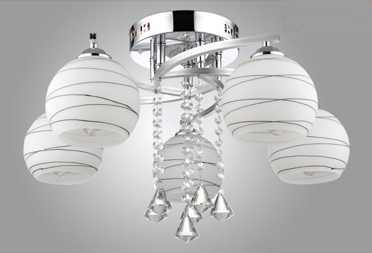 Contemporary and contracted art dome light ceiling lights and romantic sitting room bedroom round crystal lamps and lanterns eiceo crystal droplight contemporary contracted sitting room lamp atmosphere bedroom lanterns wrought iron led pendant light