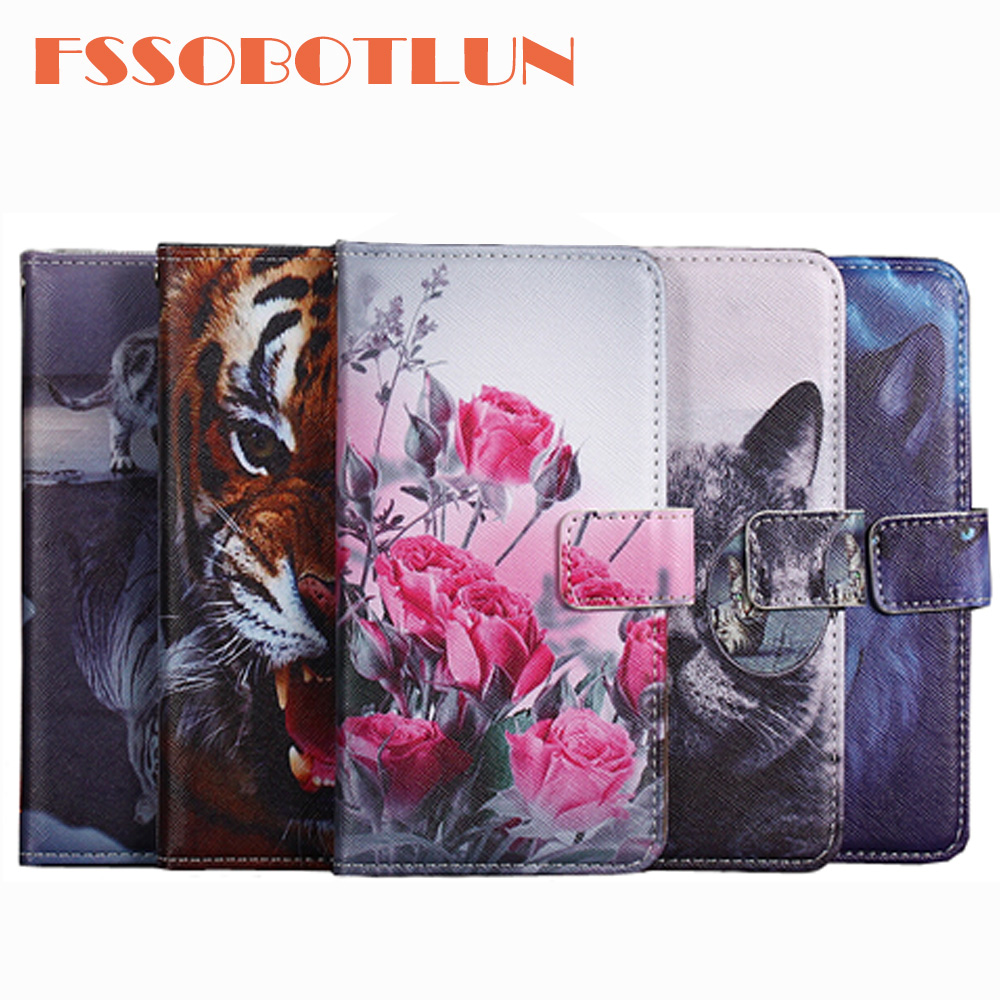 FSSOBOTLUN For General Mobile GM8 GM6 GM5 Plus PU Leather Retro Flip Cover Shell Magnetic Fashion Wallet Cases Kickstand Strap image