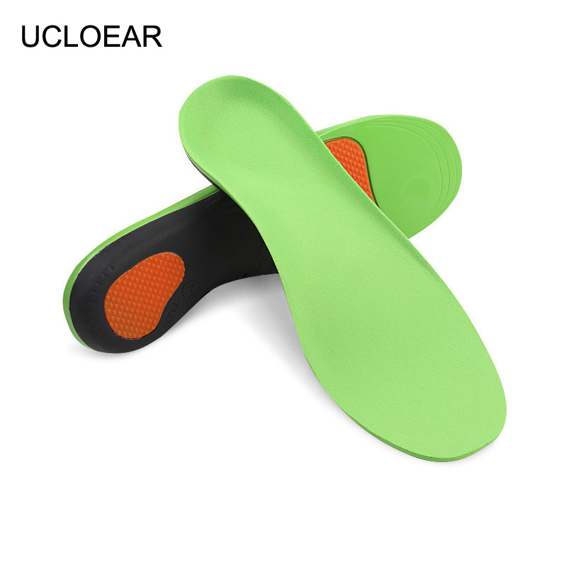 UCLOEAR Arch Support Orthopedic Insoles For Flat Foot Shoes Pad Correct Shoe Palmilha Insole Comfortable Insoles For Shoes sports insloes women shock absorban insoles for shoes soft shoes pad orthopedic pad for running sporting foot pain shoe insole