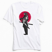 Harajuku Men T Shirts Ninja Samurai Retro Tshirt Short Sleeve Tees Labor Day O-Neck Cotton T-shirts Leisure Tops Free Shipping