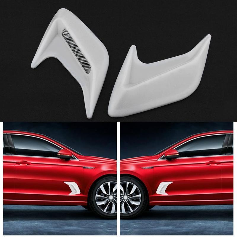 2pcs Universal Decorative Cover Car Air Flow Intake Hood Scoop Bonnet Vent Cover