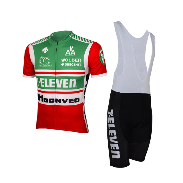 2018 7 Eleven Team Classical Men s Cycling Jersey Short Sleeve Bicycle Clothing With Bib Shorts