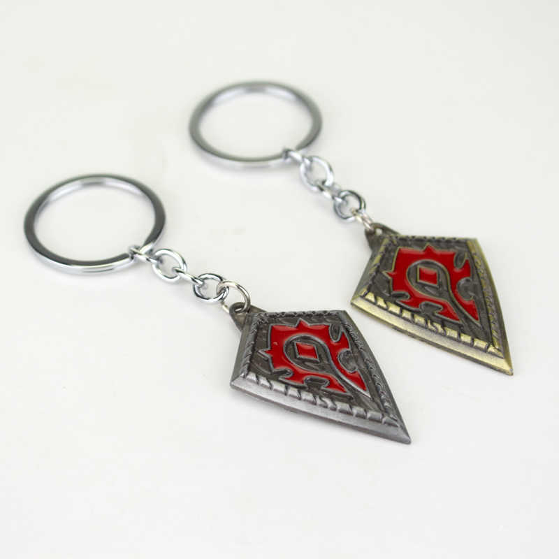 dongsheng Hot Game World of War Craft WOW Horde Logo Key Chain Alliance Hearthstone Keychain Pendant Key Holder Key Ring -50