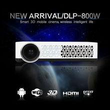 Android 4.2.2 Full HD LED Wifiสมาร์ทโปรเจ็กเตอร์หลอดไฟLED 3Dโฮมเธียเตอร์แอลซีดีวิดีโอProyectorฉายทีวีBeamer,ดูหนัง