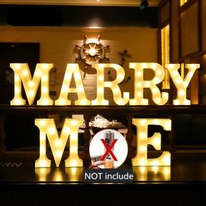 Image 5 - 16CM LED Licht Brief Festzelt Alphabet Licht Indoor Batterie Nacht Licht Für Hochzeit Geburtstag Decor Heißer Tisch Lampe geschenk