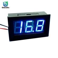 2 Wire 0.56 LED Digital Voltmeter Voltage Meter Car Motorcycle Volt Tester Detector DC 5V-120V DC4.5V-30V Red Green Blue