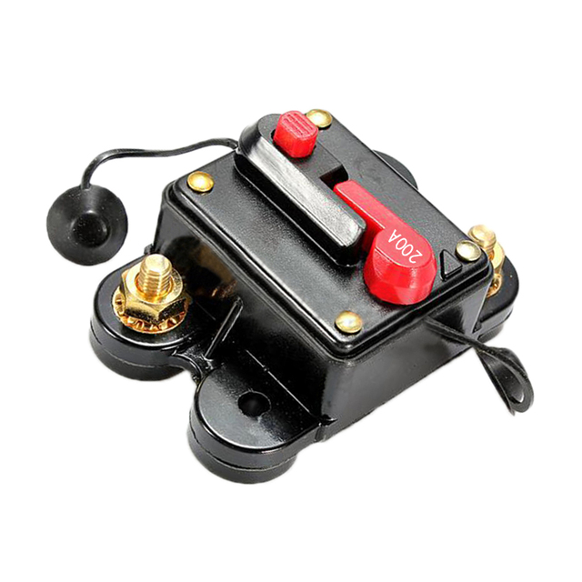 New 200A AMP Circuit Breaker Car Marine Stereo Audio Inline Replace Fuse 12V-24V