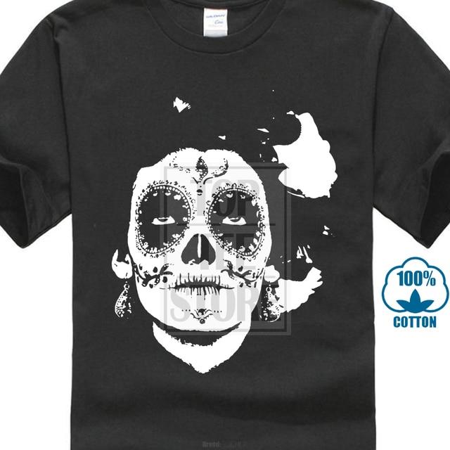 abb77468744eb T-Shirt homme imprimé noir blanc Style mexicain à manches courtes col rond  coton t