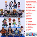 """Free Shipping Mini 3"""" One Piece All 16 Division Commander of Whitebeard Pirates PVC Action Figures Model Toy (16pcs per set)"""