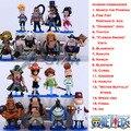 """O Envio gratuito de Mini 3 """"um Pedaço de Tudo 16 Comandante Da Divisão de Piratas Barba Branca Ação PVC Figures Modelo Toy (16 pcs por o jogo)"""