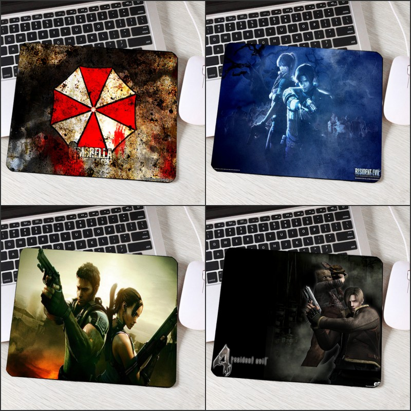 Mouse Pads Honey Congsipad Resident Evil Series Video Game Movie Pattern Mousepad Umbrella Logo Printed Mini Pc Laptop Gaming Mouse Mat Table Pad Diversified Latest Designs Computer & Office