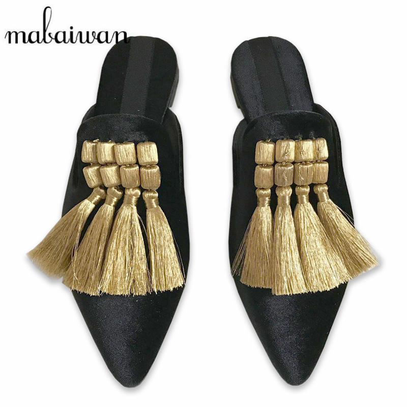 Fashion Design Velvet Women Slippers Gladiator Sandals Summer Casual Flat Shoes Woman Pointed Toe Slides Beach Shoes Mules new 2016 women rhinestone gladiator sandals summer flat casual shoes beach slippers size 35 39