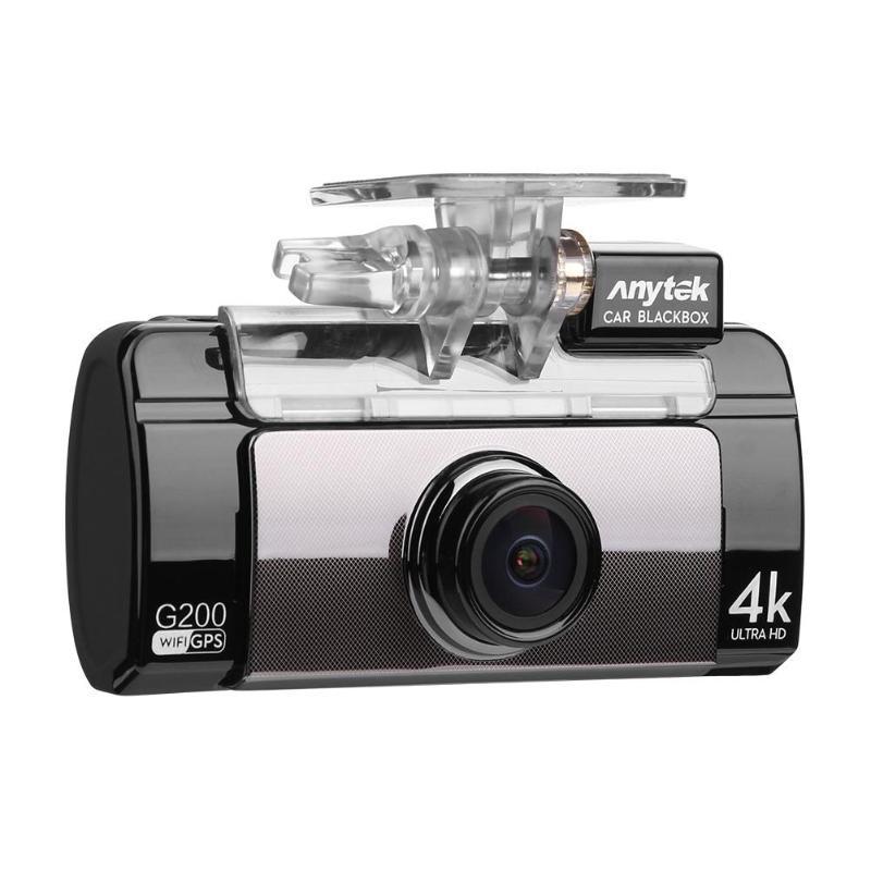 Anytek G200 2,7 ips Сенсорный экран 4 К UHD Wi-Fi Видеорегистраторы для автомобилей Камера Двойной объектив gps Logger видео Регистраторы Ночное видение g-се...