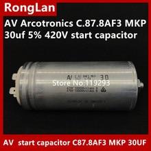 [BELLA] [Original new] AV Arcotronics C.87.8AF3 MKP 30uf 5% 420V start capacitor [bella] [new original] arcotronics av motor inverter start capacitor c87 8bf3 mkp 12uf 5% 500v