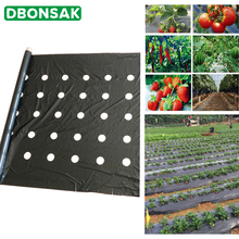 95cm*50m 5Holes 0.02mm Black Mulch Film Gardening Flower Vegetable Seedling Plants Plastic Perforated PE Film Mulching Membrane 52in mulch kit for everride 99241000