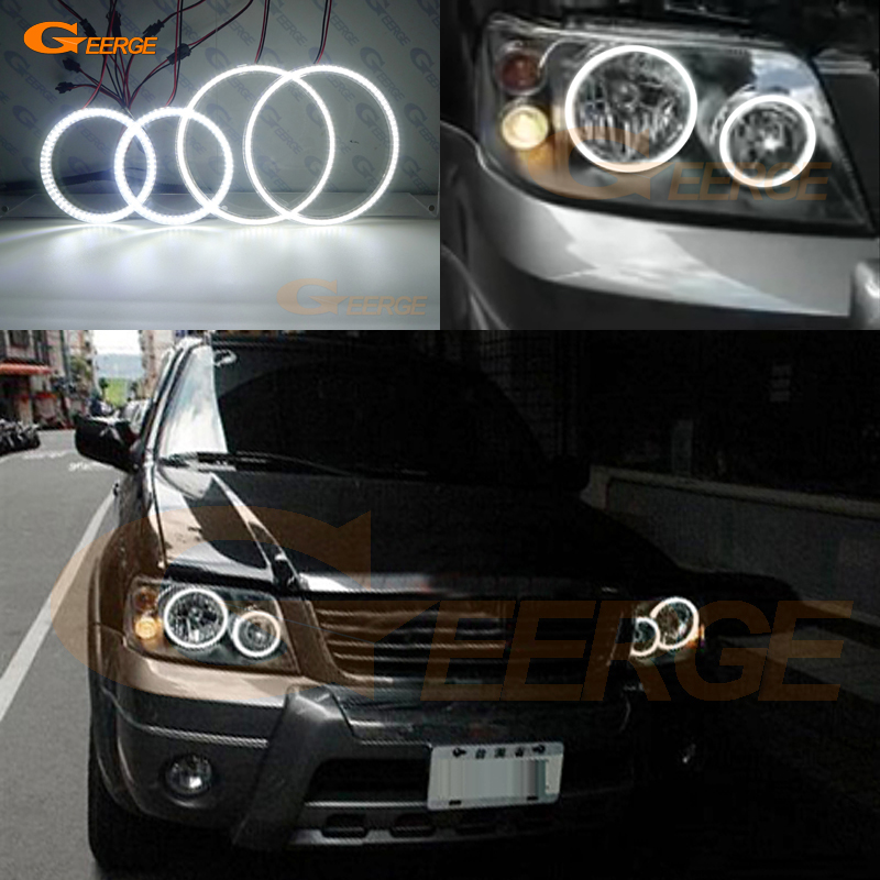 For FORD ESCAPE 2005 2006 2007 Excellent led angel eyes Ultra bright illumination smd led Angel Eyes kit DRL for ford fiesta facelift 2005 2006 2007 2008 excellent 4 pcs smd led angel eyes ultrabright illumination angel eyes kit