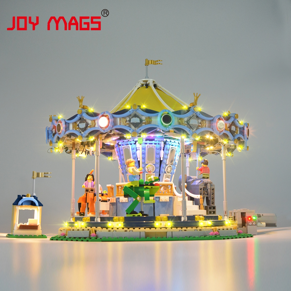 JOY MAGS Led Light Kit (Only Light Set) For Creator Expert The New Carousel Light Set Compatible With 10257 And 15036 joy mags only led light set building blocks kit light up kit for creator series f40 car compatible with lego 10248 21004