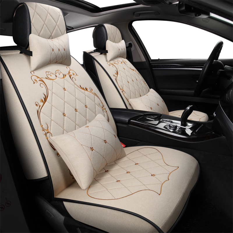 front+rear car seat covers for vw Hyundai iX25 Toyota RAV4 auto interior accessories luxury design leather car seats protector цена 2017
