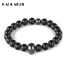 2017 New Design Bracelets Women Men Bangles Accessories Lava Stones Beads Jewelry Friendship Bracelet Pulseras Gift DKS-BR003