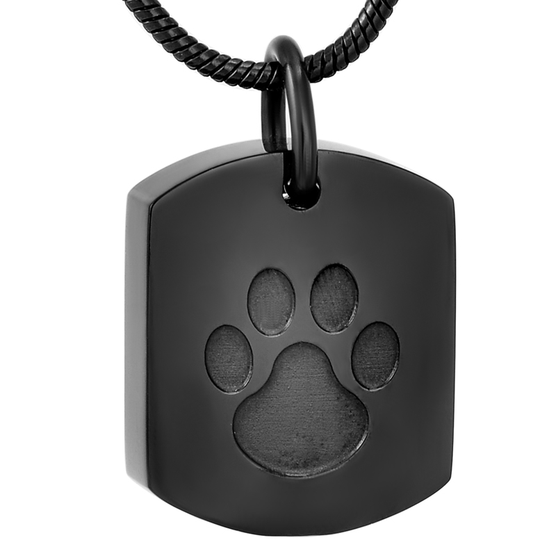 High Grade Stainless Steel Paw Print Pet Memorial Urn Pendant Necklace for Dog Cat Ashes Wholesale Cremation JewelryHigh Grade Stainless Steel Paw Print Pet Memorial Urn Pendant Necklace for Dog Cat Ashes Wholesale Cremation Jewelry
