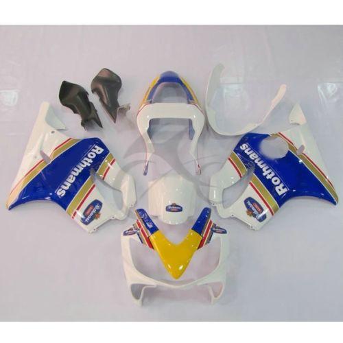 Ротманс Впрыски ABS обтекатель Комплект для Honda CBR600F4I ЦБР 600 F4I 01-03 02 20Б