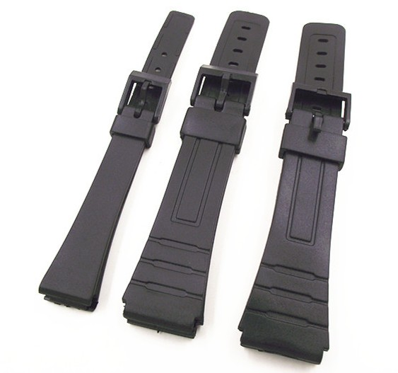 1PCS 14mm 18mm 20mm black color resin watch band watch straps man and woman wrist watch straps for casio bands -0145RWS 1pcs canvas fabric nylon watch straps bands black army green brown gray striped replace wristwatch bracelet width 20mm