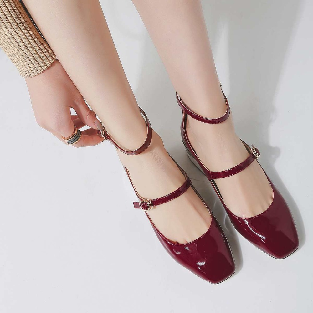 Подробнее о Krazing Pot new fashion brand shoes patent leather square toe preppy style low heel sweet buckle women pumps mary jane shoes 90 krazing pot new fashion brand gold shoes patent leather square toe preppy style med heels buckle women pumps mary jane shoes 90