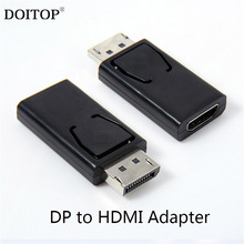 DOITOP ABS Shell 20Pin DisplayPort Display Port DP to HDMI DVI VGA Adapter Support 10.8Gbps 1080P Video Audio Transmiission A3