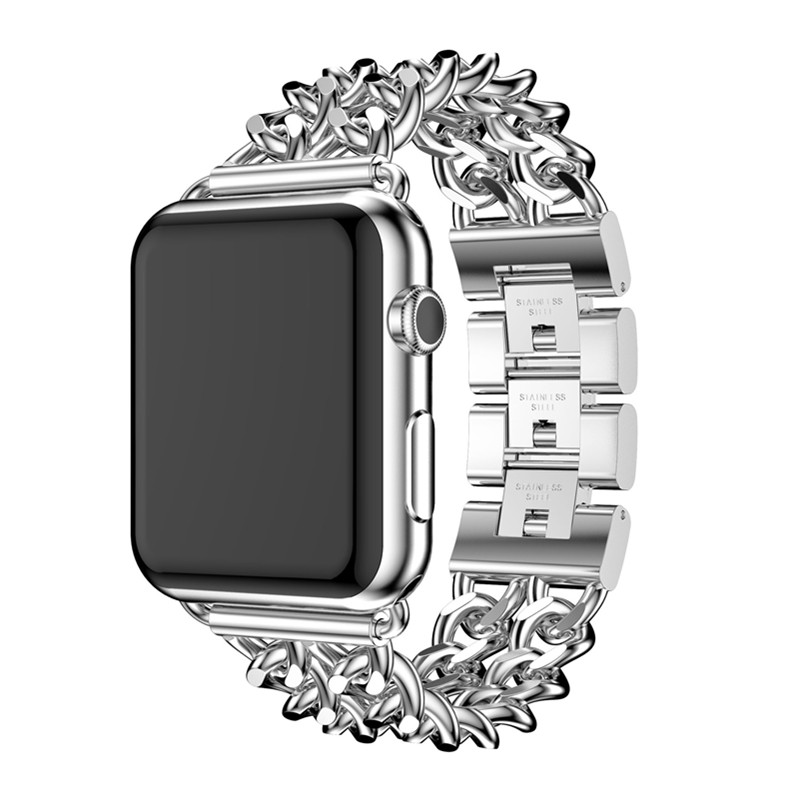 Denim Chain Alloy Stainless Steel Strap  For Apple Watch38 / 42MM Watch for Iwatch