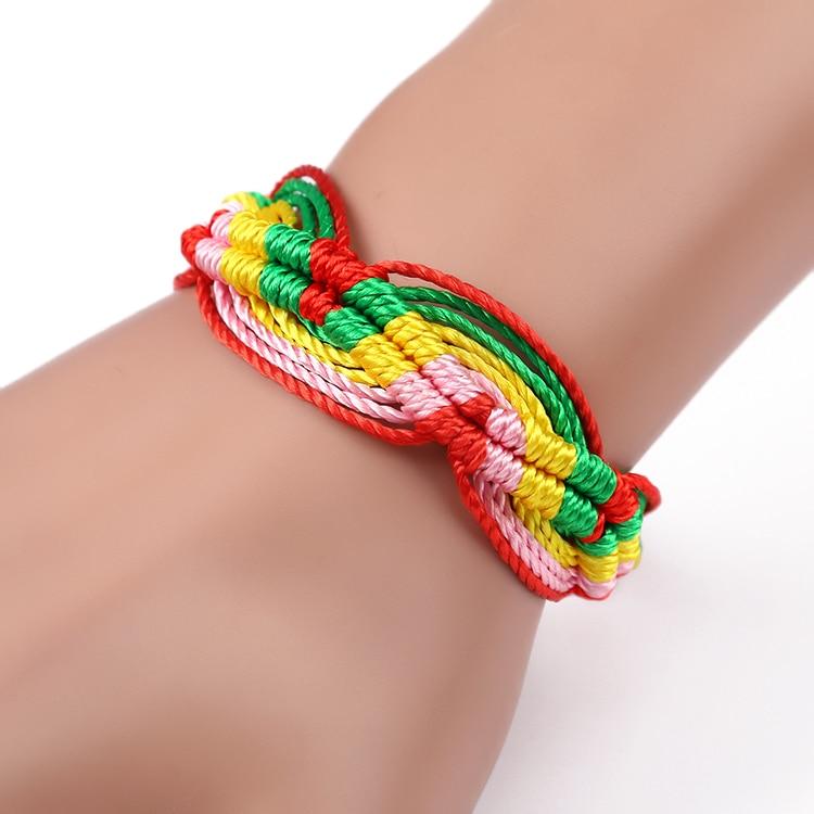 Cheap brazilian bracelet multicolor braided boho chain bohemian tassel handmade sport chain friendship bracelets brown unisex 5