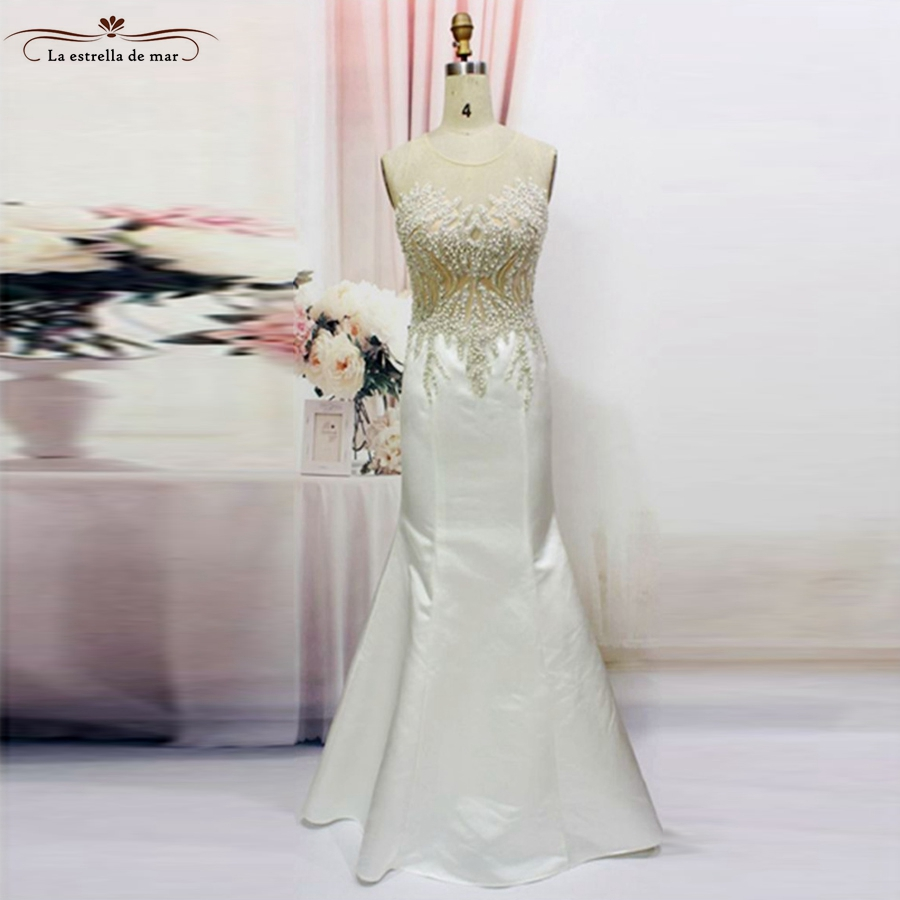 Moroccan kaftan 2018 new satin lace pearl sexy mermaid white black turkish evening gowns ...