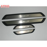 STYO Car scuff plate door exterior outer sill trim welcome pedal for Mazdas CX 3 CX3 2017 2018