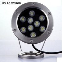 Free Shipping 6 Pcs Per Lot DC AC 12v 9w LED Underwater Light Lamp Fountain Lamp