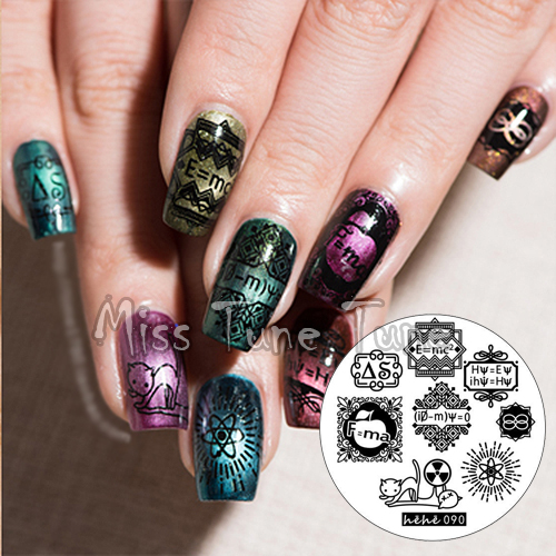 Science Nail Designs: New Premium Stamping Plate Hehe90 Science Scientific